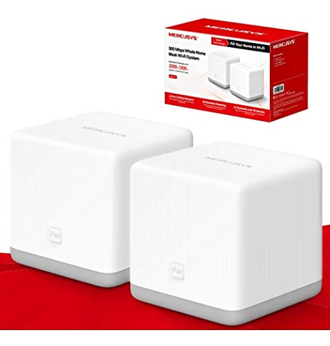 Mercusys Halo S3(2-Pack) 300Mbps Wireless Whole Home Mesh Wi-Fi System (WiFi Router/Extender/Booster for Seamless Network, up to 2,200 sq feet Coverage, Parental Control, Easy Set Up)