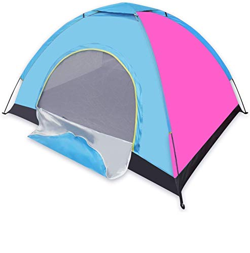 NETXE 4 Person Pop up Tent Instant Tent Lightweight Automatic Portable Tent Backpacking Tent Waterproof Sun Shelter for Outdoor Indoor Family Camping Backpacking Picnic (Multi Color)
