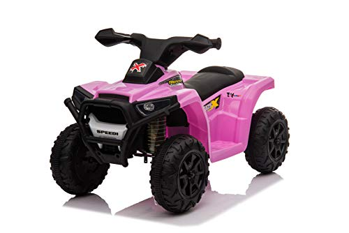 Toy House Kiddy's Beach ATV Rechargeable Battery Operator Ride-On Bike for Kids (2 to 4YRS), Pink (THROB217P)