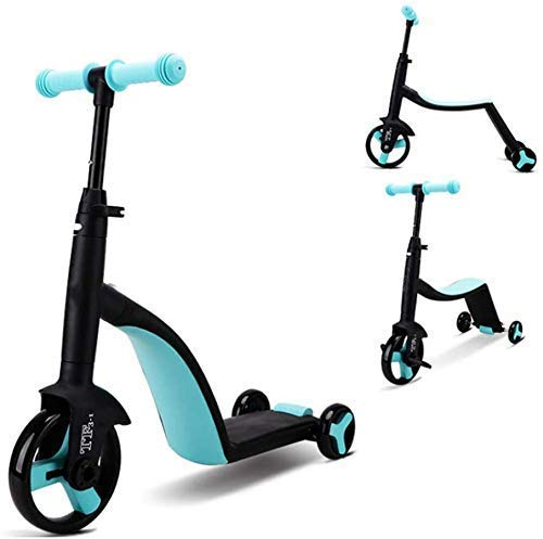 TARINI 3-in-1 Convertible Tricycle, Balance Bike, Kick Scooter for Kids and Toddler at Age of 2,8 Year Old | Trike Turns Into 3 Wheel Scooter for Boys & Girls(Multi)