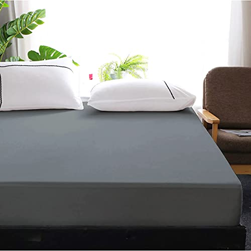 Cloth Fusion Saviour Waterproof Terry Cotton Mattress Protector/Cover for King Size Bed- 78'x72' - Grey, Pack of 1