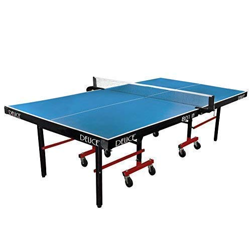 Fieldsheer Deuce 801 IN super fast table tennis table with laminated 19 mm top 75 mm wheels with lock & levellers (tt table net, clamps, 2 tt bats, 3 balls & tt board cover included)