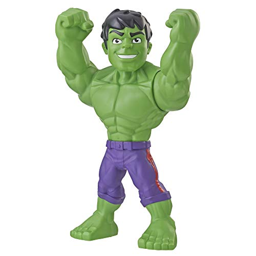 Super Hero Adventures Playskool Marvel Super Hero Adventures Mega Mighties Hulk Collectible 10-Inch Action Figure Toys for Ages 3 and Up Kids