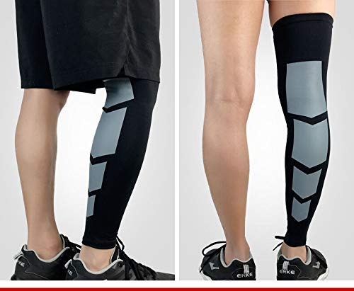 JUST RIDER Compression Sleeve for Men & Women - BEST Calf Compression Socks for Running Shin Splint Calf Pain Relief Leg Support Sleeve for Runners Medical Air Travel Nursing Cycling (Black, large)