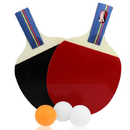 Generic Penhand Grip Red Black Rubber Ping Pong Penhold Table Tennis Paddle