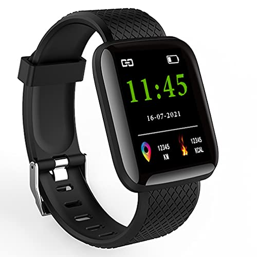 VRcast Bluetooth Smart Fitness Band Watch with Heart Rate Activity Tracker Waterproof Body, Step and Calorie Counter, Blood Pressure, OLED Touchscreen for Men / Women