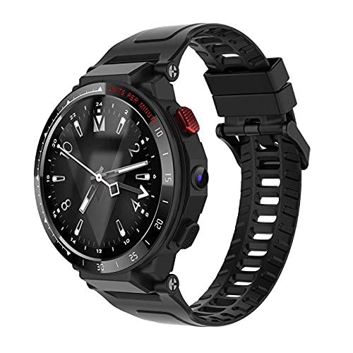 Generic LES4 4G Smart Watch 1.6-inch HD Touch-Screen Quad Core Processor 1GB RAM+16GB ROM 5.0MP Camera Fit Activity Tracker Heart Rate Monitor 4G LTE Smartwatch for Android iOS Black