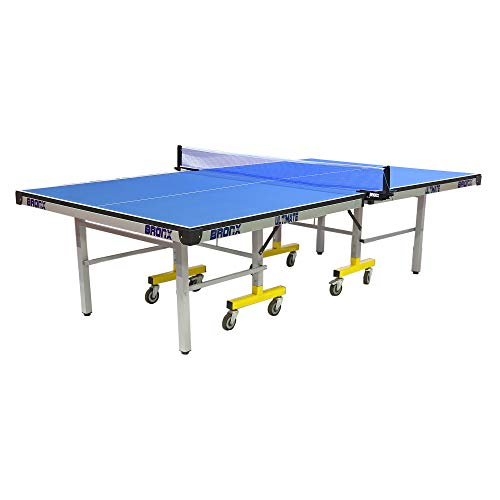 Bronx Ultimate Table Tennis Table with 19 mm Both Side Laminated Blue top and 100 mm 6+2 Stopper Wheel (2 TT bat, 3 Balls and 1 Cover)