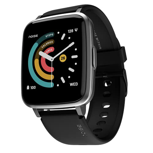 Noise ColorFit Pulse Spo2 Smart Watch with 10 days battery life, 60+ Watch Faces, 1.4' Full Touch HD Display Smartwatch, 24*7 Heart Rate Monitor Smart Band, Sleep Monitoring Smart Watches for Men and Women & IP68 Waterproof (Jet Black)