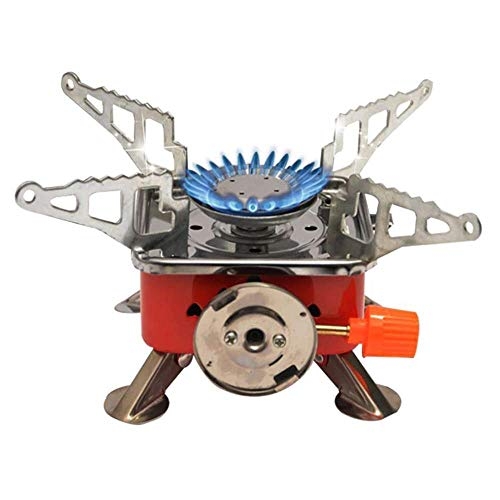 TLISMI Portable Gas Stove and Picnic Butane Gas Burner For Outdoor Camping Hiking Travelling To Cooking The Food Folding Furnace Camping Equipment Stove with Pouch