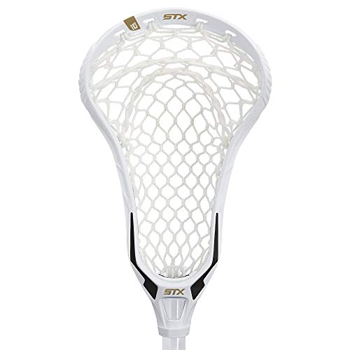 STX Lacrosse Fortress 700 Strung Head with Crux Mesh Pro Pocket, White