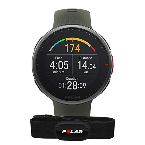 POLAR Vantage V2 with H10 Heart Rate Monitor - Premium Multisport GPS Smart Watch, Wrist-Based HR for Running, Swimming, Cycling, Strength Trainings