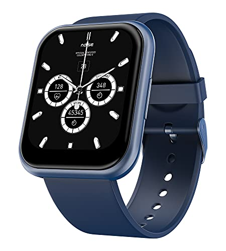 Noise ColorFit Ultra Bezel-Less Smart Watch with 1.75' HD TruView Display, 60 Sports Modes, SpO2, Heart Rate, Stress, REM & Sleep Monitor, Stock Market Info (Space Blue)