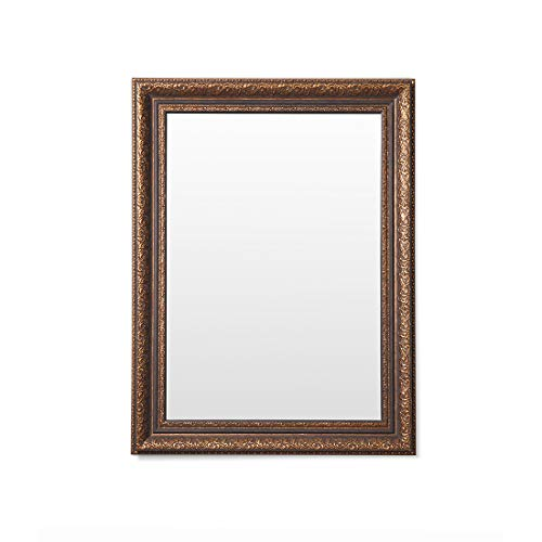 Frame N Art Decorative Wooden Finish Water Proof Vanity Wall Mirror Glass for Living Room, Bathroom, Bedroom (CGC-44), (18 x 24) INCH