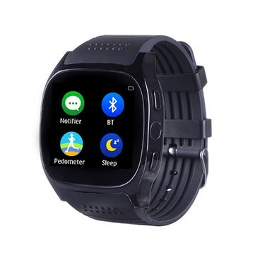 Generic T8M Heart Rate Blood Pressure Monitor Bluetooth Camera Smart Watch for Android