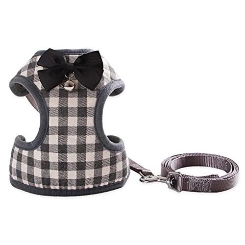 WorldCare® Dog Har with Bowtie Step-in Vest Har Leash Set Pet Cat Vest Dog Leash Set for Daily Wal Running Training-Daerzy-CS-A-90973