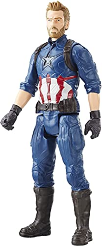DECOR EXPRESS 12Inch Captain America Avengers End Game Action Figure with LED Light and Sound Effects -30cm End Game Toys, Avengers Toy for Kids (Captain America New)