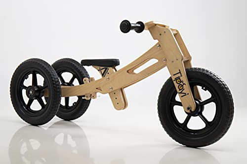 Vamshycle Tipayi Balance Bike for Young Children (3in1, Raw) 1 to 5 Years