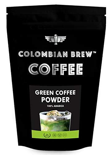 Colombian Brew Coffee 100% Arabica Green Coffee Beans Powder, for Weight Loss, 200g
