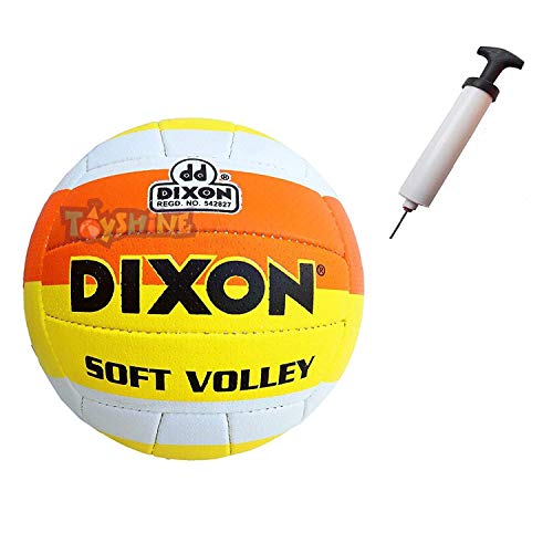Toyshine Dixon Soft Volley Volleyball with Pump Beach | PU Leather (SSTP)