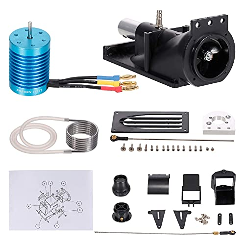 Generic RC Thruster Jet Pump Set Propeller Pusher Spray Water Thruster with F540 3650 3000KV Brushless Motor for 1/10 1/8 RC Boat