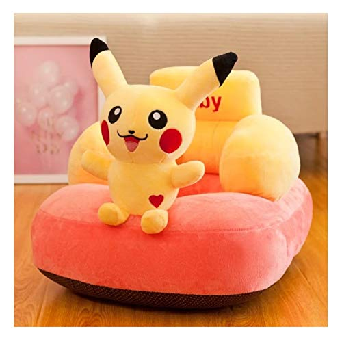 AVSHUB Baby Cushion Sofa Pikachu Shaped for Supporting Baby Attractive Toy for Kids (Yellow)