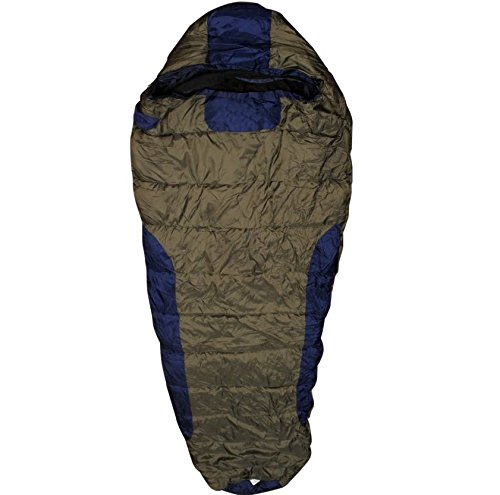 zvr Platinum Series Woollen Inner and Cap Adventure Ultra Warm Duck Down Feather Camping and Hiking Sleeping Bag, 0 to -10 Degree C (Multicolour)