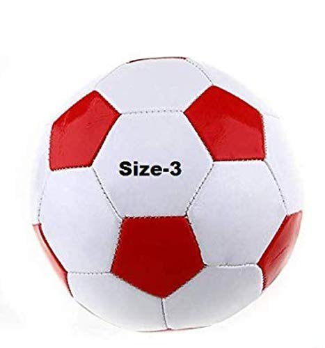 GOYAL KHEL CENTRE PVC Football with Needle, Size 3 (Red and White), 2 to 12 Year Kids