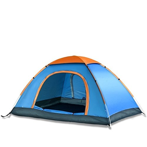 Right Choice Unisex Polyester Pongee Waterproof Dome Tent for 4 Person with Bag (Multicolour)
