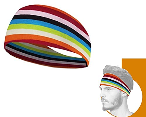 CURATED CART Headbands for Men & Women - Headband for Sports, Workout, Running - Comfortable, Quick Drying Head Bands for Long Hair Band for Unisex(Random Print Any 1)