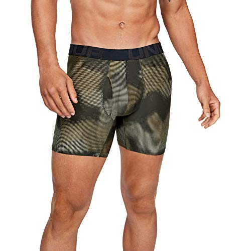 Under Armour Men's 6inch Novelty Boxerjock - 2 Pack, Baroque Green (310)/Baroque Green, 3X-Large