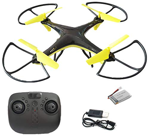 SUPER TOY 2.4GHz Remote Control Quadcopter Drone Without Camera for Beginners - Altitude Hold, Headless Mode and 360 Flip Stunt, Multicolor