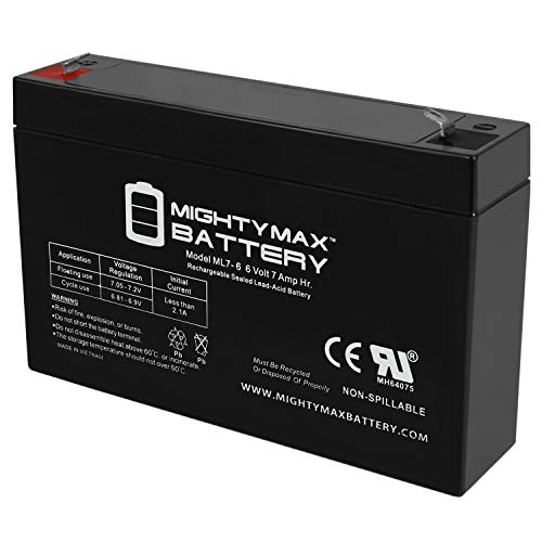 Mighty Max Battery on 6 V 7Ah Battery for Kids Ride on Power Car Wheels