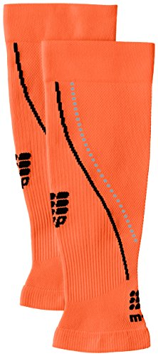CEP Men's Progressive+ Night Calf Sleeves 2.0 Provide Unique Compression Technology for Running, Cross Training, Fitness, Calf Injuries, Shin Splits, Recovery and Athletics, 20-30mmHg , Flash Orange/Black , III