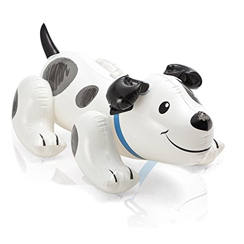 SLYTEK Kid's Cute Inflatable Puppy Dog Ride-On Beach Toy with Handle for Ages 3+ Swim Pool Float (42' X 28' Or 1.08m x 71cm)