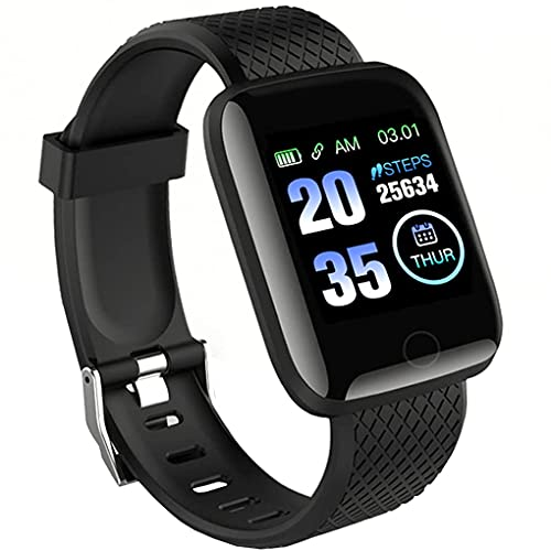 HOTNIX-ID116Bluetooth Smart Fitness Band Watch with Heart Rate Activity Tracker, Step and Calorie Counter, Blood Pressure, OLED Touchscreen for Men/Women