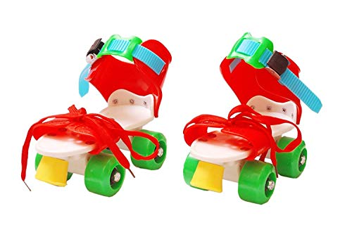 SUNLEY Roller Skates for Kids, Girls, Boys Adjustable Size 16 CMT.to 21 CMT. 6 to 10 Years Kids