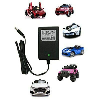 pooja enterprise 12v charger for kids ride on toys, 12 volt battery charger for mercedes benz bwm audi maserati children powered ride on car battery power adapter-Black