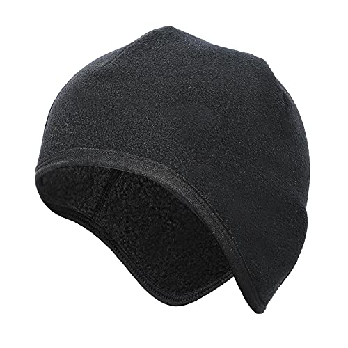 pekdi Wind-Proof Warm Cycling Cap Helmets Liner Inner Cap with Ear Covers Ultimate Thermal Retention Hat for Running Cycling Skiing & Winter Sports