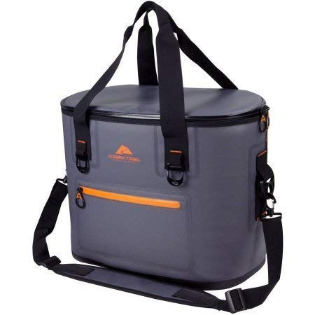 NEAR STOP Jumbo Cooler Bag Soft Cooler 24L (36-Can), Insulated Thermal Soft-Side Cooling Picnic Bag with Large Pocket for Picnic/Party/Beach/Camping, (Colour:- Grey)