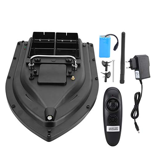 RC Bait Boat, Remote Control Fishing Boat, Double Motors Bait Boat, for Fishermen Durable More Stable Fishing Enthusiasts(European regulations, Transl)