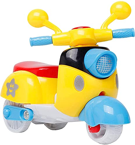 DA Enterprise Mini Scooter Toys for Kids Toddlers Baby Boys Girls Adults Seat Model Toys Steering Wheel Car Toy Track, Mini Motorcycle Toy Pull Back ( Random Colour )