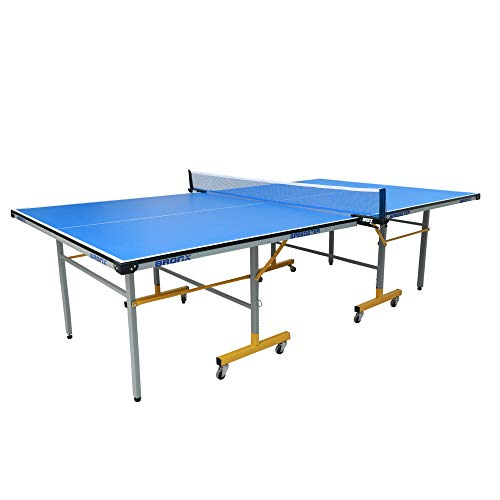 Bronx Speedster Table Tennis Table with 18 mm Both Side Laminated Blue top and 50 mm Wheel (2 Table Tennis Table bat, 3 Table Tennis Table Balls and 1 Table Tennis Table Cover)