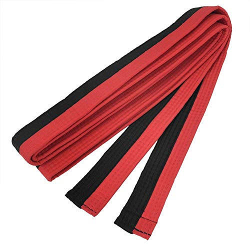 XIOMI Red and Black Martial Arts Karate Tae Kwon Do Judo Belts -260 cm Long
