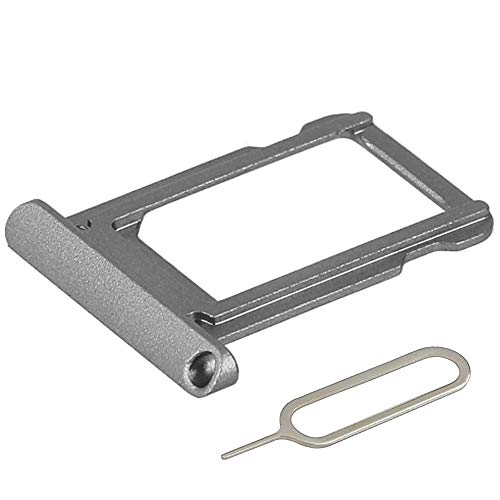 MMOBIEL SIM Card Slot Tray Holder Replacement Compatible with iPad iPad Pro 12.9-inch (2nd Generation) 2017 Incl. SIM Pin - Gray
