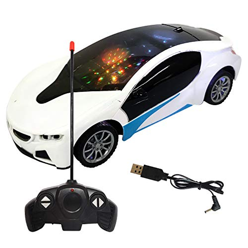 NHR Plastic Remote Control Car, Pack of 1, White