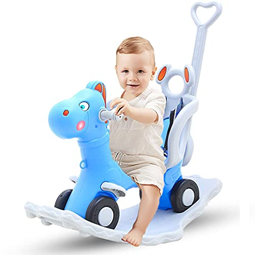 GoodLuck Baybee Baby 2 in 1 Horse Rider-Kids Ride On Push Car Toy Car Rider Babies Toy Toddler Baby Rocker seat Toys 1-3 Years - Indoors and Outdoors Made in India (2in1 Blue)