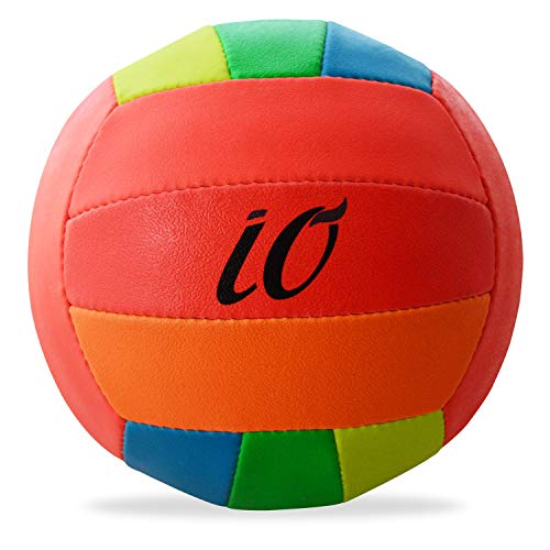 Io All Season Volleyball for All Ages Kids Adults Volleyball for School Goers Fine Triple Layered Club Type Official Io 6 Volleyball (Number 4, 6 Colour)
