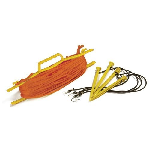 Tandem Nylon Sport Rope Volleyball Court Lines, Orange, 1/4 inch rope
