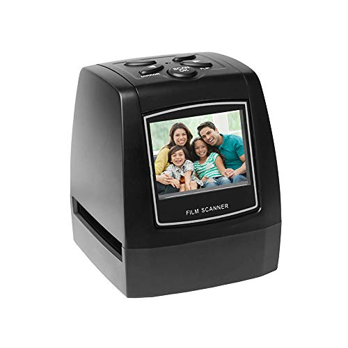 Walmeck-1 Protable Negative Film Scanner 35Mm 135Mm Slide Film Converter Photo Digital Image Viewer with 2.4' LCD Build in Editing Software